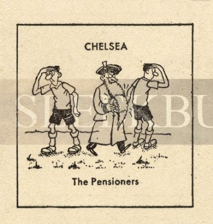 VINTAGE Football Print CHELSEA - THE PENSIONERS Funny Cartoon